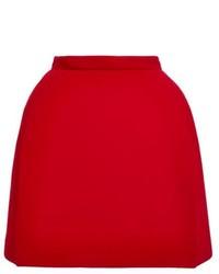 Minijupe en laine rouge