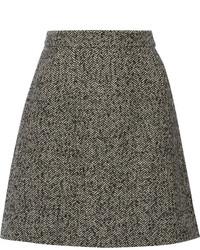 Minijupe en tweed gris foncé