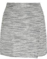 Minijupe en tweed grise