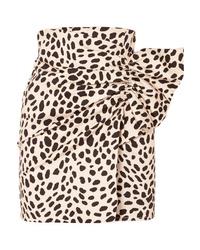 Minijupe imprimée léopard marron clair Silvia Tcherassi