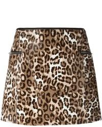 Minijupe imprimée léopard marron Joseph