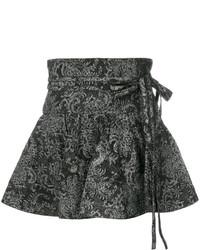 Minijupe imprimée noire Marc Jacobs