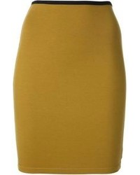 Minijupe moutarde Jean Paul Gaultier