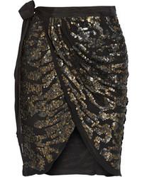 Minijupe ornée noire Isabel Marant