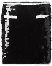 Minijupe pailletée noire Moschino