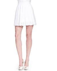 Minijupe plissée blanche