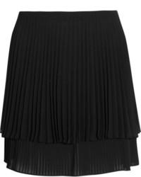 Minijupe plissée noire Topshop