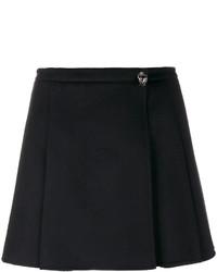 Minijupe plissée noire Valentino