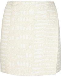 Minijupe texturée blanche Proenza Schouler
