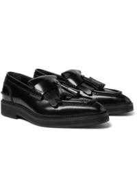 Mocassins à pampilles en cuir noirs Alexander McQueen