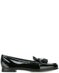 Mocassins à pampilles en cuir noirs MICHAEL Michael Kors