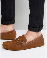 Mocassins en daim marron Asos