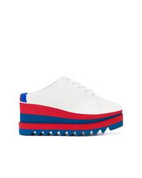 Mocassins plateforme blanc et rouge et bleu marine Stella McCartney