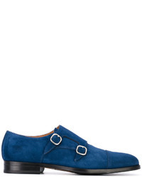 Monks en cuir bleus Doucal's