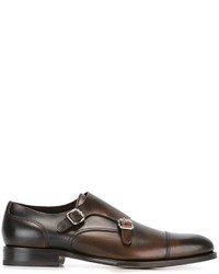 Monks en cuir marron foncé DSQUARED2