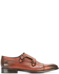 Monks en cuir marron Canali