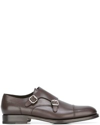 Monks en cuir marron DSQUARED2
