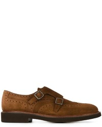 Monks en daim marron Canali