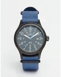 Montre bleue Timex