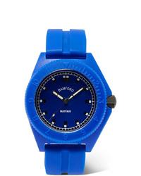 Montre en caoutchouc bleue Bamford Watch Department
