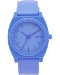 Montre en caoutchouc bleue Nixon