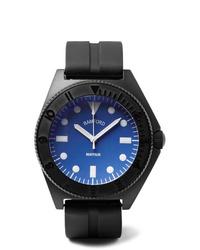 Montre en caoutchouc noire Bamford Watch Department