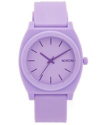 Montre en caoutchouc violet clair Nixon