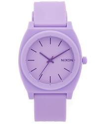 Montre en caoutchouc violette claire Nixon