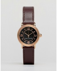 Montre en cuir bordeaux Marc Jacobs