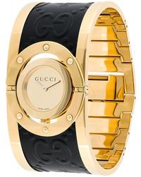 Montre en cuir dorée Gucci