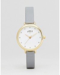 Montre en cuir grise Limit