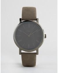 Montre en cuir grise Timex
