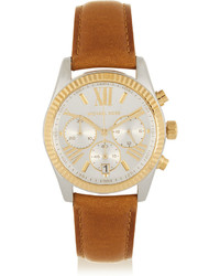 Montre en cuir marron clair Michael Kors