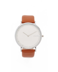 Montre en cuir marron clair RumbaTime