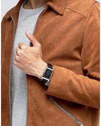 Montre en cuir marron foncé Hugo Boss