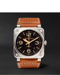 Montre en cuir marron Bell & Ross
