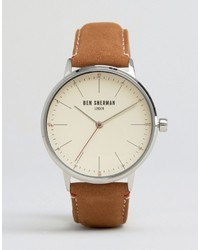 Montre en cuir marron Ben Sherman