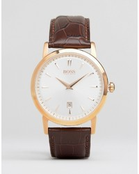 Montre en cuir marron Hugo Boss