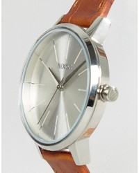 Montre en cuir marron Nixon