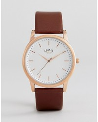 Montre en cuir marron Limit