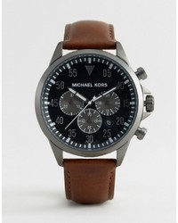Montre en cuir marron Michael Kors