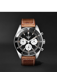 Montre en cuir marron Tag Heuer