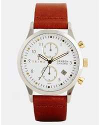 Montre en cuir marron Triwa