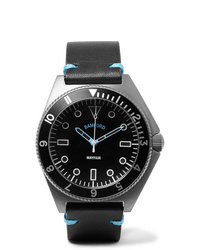 Montre en cuir noire Bamford Watch Department