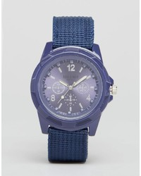 Montre en toile bleu marine Reclaimed Vintage