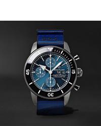 Montre en toile bleue Breitling