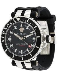 Montre noire Versace