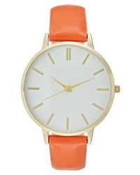 Montre orange New Look