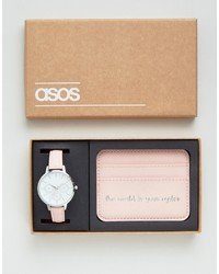 Montre rose Asos