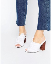 Mules blanches Asos